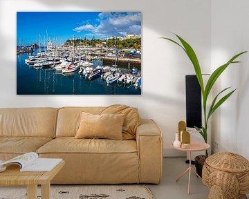 Hafen in der Stadt Funchal auf der Insel Madeira von Rico Ködder