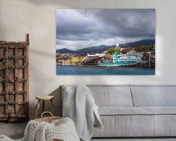 Blick auf die Stadt Funchal auf der Insel Madeira von Rico Ködder