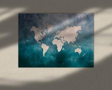 World map 25 #map #worldmap sur JBJart Justyna Jaszke