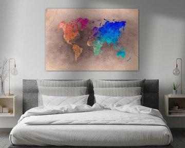 World map 27 #map #worldmap van JBJart Justyna Jaszke
