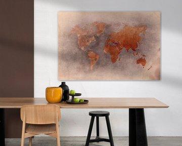 World map 28 #map #worldmap van JBJart Justyna Jaszke