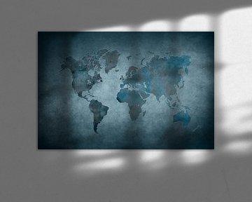 World map 29 #map #worldmap van JBJart Justyna Jaszke