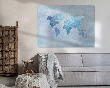 World map 31 #map #worldmap sur JBJart Justyna Jaszke