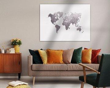 World map 33 #map #worldmap van JBJart Justyna Jaszke