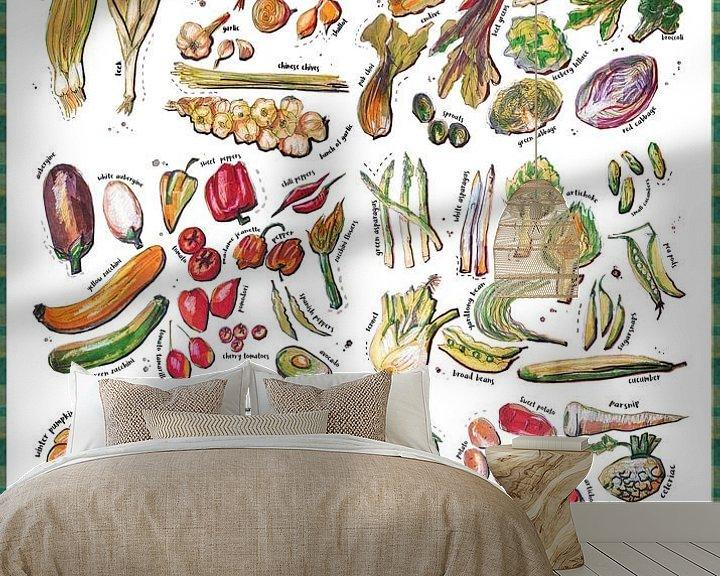 Impression: Vegetable Encyclopedia - all types of vegetables, sur Ariadna de Raadt-Goldberg