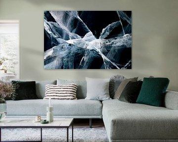 Abstracte lijnen in het ijs