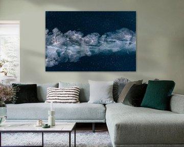 Prachtige wolk in het ijs, net de Melkweg. von Michèle Huge