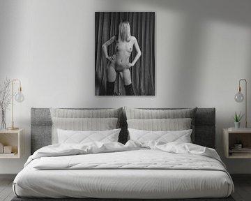 Schöne nackte Frau. Foto in schwarz/weiß. #A7216 von william langeveld