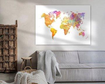 Wereldkaart 38 kleuren #kaart #Wereldkaart van JBJart Justyna Jaszke