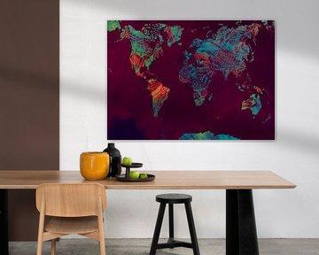 Wereldkaart 43 #kaart #wereldkaart van JBJart Justyna Jaszke