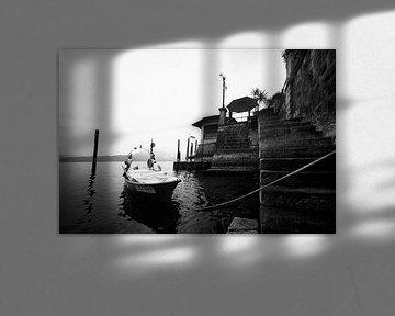 Lago Maggiore, Italien (schwarz und weiß) von Rob Blok