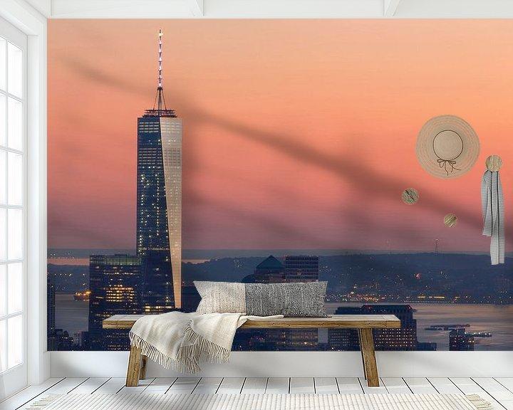 Sfeerimpressie behang: ONE WTC ONE (freedom tower) New York City van Marcel Kerdijk