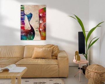 Gitarre 3 Musik Kunst #Gitarre #Musik von JBJart Justyna Jaszke