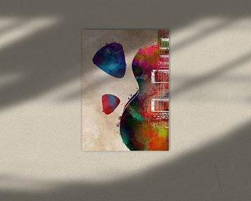 Gitaar 4 muziekkunst #gitaar #muziek van JBJart Justyna Jaszke