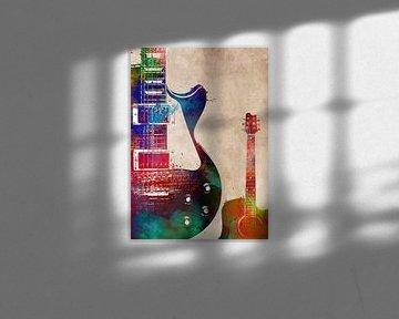 Gitaar 13 muziekkunst #gitaar #muziek van JBJart Justyna Jaszke