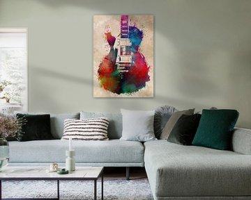 Gitarre 26 Musikkunst #Gitarre #Musik von JBJart Justyna Jaszke