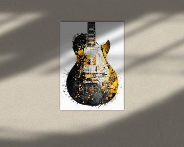 Gitarre 33 music art schwarz und gold #guitar #music von JBJart Justyna Jaszke