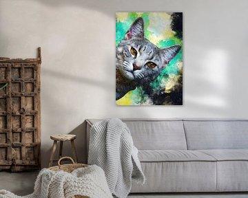 Katze 1 Tiere Kunst #Katze #Katzen #Kätzchen von JBJart Justyna Jaszke