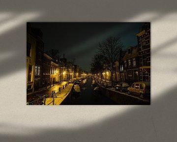 Bakenessergracht Haarlem Schnee Januar 2021 Farbe von Bob Van der Wolf