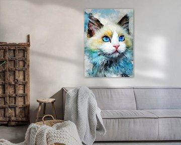Katze 10 Tiere Kunst #Katze #Katzen #Kätzchen von JBJart Justyna Jaszke