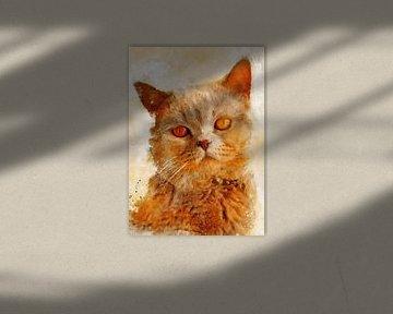 Katze 11 Tiere Kunst #Katze #Katzen #Kätzchen von JBJart Justyna Jaszke