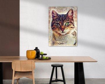 kat 12 dieren kunst #cat #cats #kitten # van JBJart Justyna Jaszke