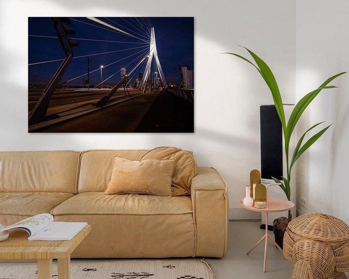 Sfeerimpressie: Erasmusbrug Rotterdam van Brian Morgan