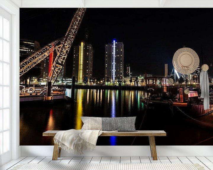 Sfeerimpressie behang: Rotterdam van Brian Morgan