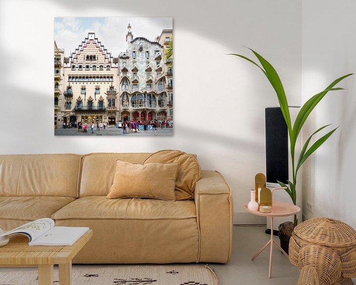 Beispiel: Barcelona   Casa Batllo by Antoni Gaudi von Panorama Streetline