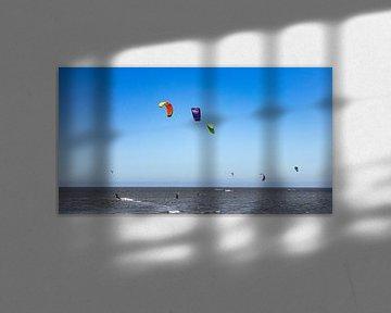 Kitesurfers in actie van Percy's fotografie