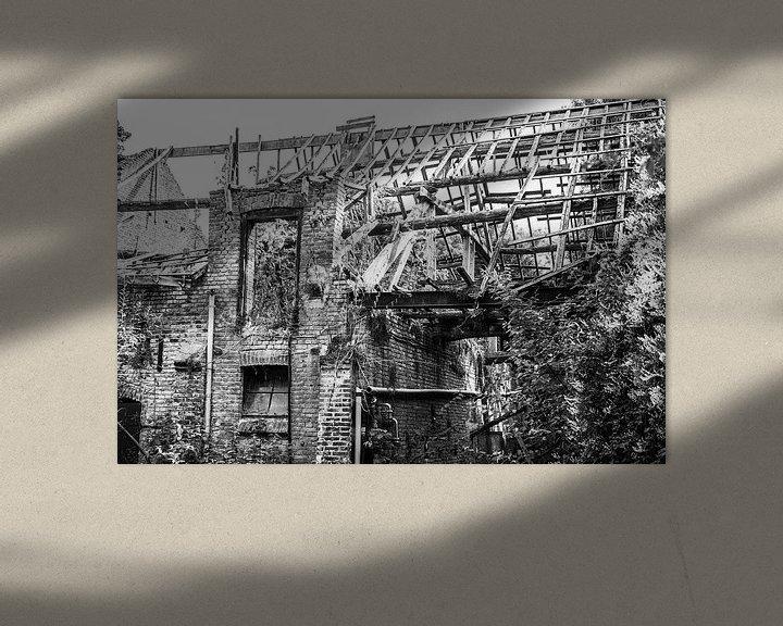 Beispiel: Ruine eines verbrannten Hauses. von Bert-Jan de Wagenaar