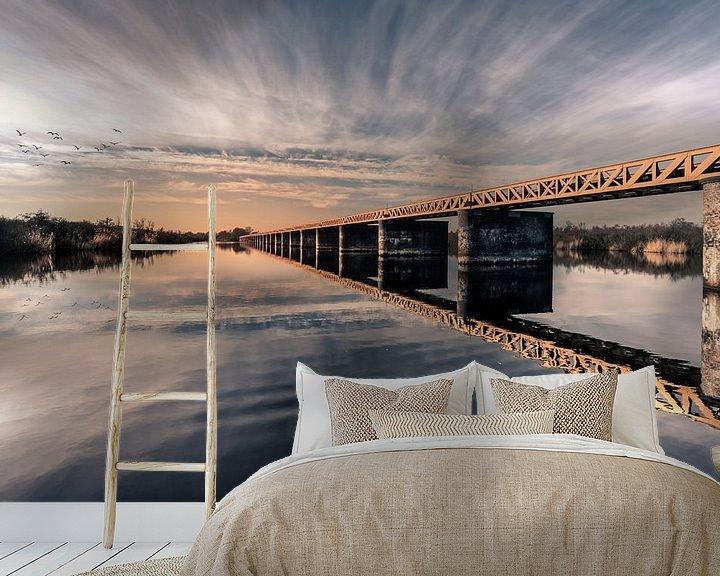 Sfeerimpressie behang: Moerputtenbrug van Bert-Jan de Wagenaar