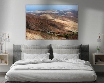 Paysage de montagne volcanique sur Fuerteventura sur Peter de Kievith Fotografie