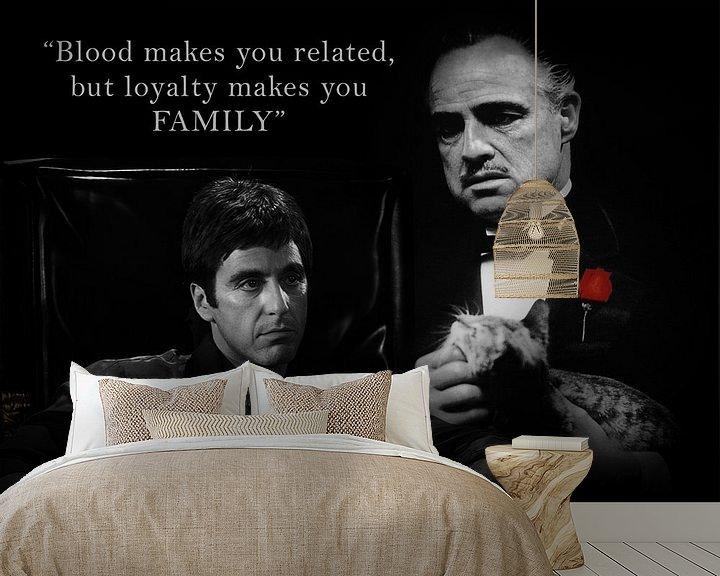 Beispiel fototapete: Tony Montana und Don Vito Corleone mit einem schönen Zitat. Auch mit eigenem Angebot erhältlich! von Bert Hooijer