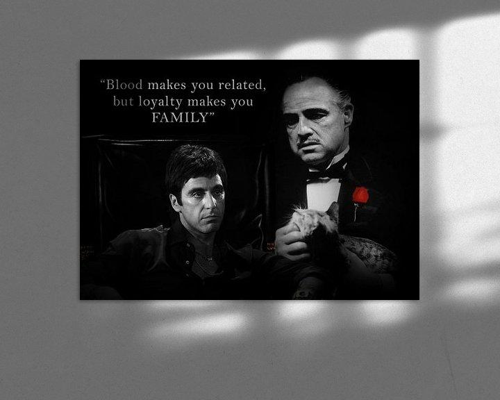Beispiel: Tony Montana und Don Vito Corleone mit einem schönen Zitat. Auch mit eigenem Angebot erhältlich! von Bert Hooijer