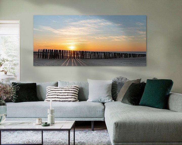 Sfeerimpressie: Strand bij ondergaande zon van Percy's fotografie