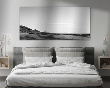 Domburg Strand in schwarz und weiß von Percy's fotografie