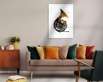 Waldhorn 1 musci art #Waldhorn #Musik von JBJart Justyna Jaszke
