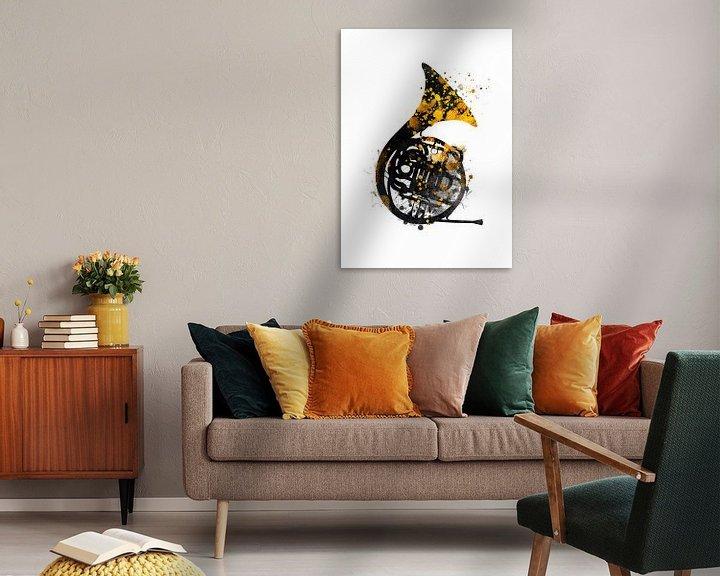 Sfeerimpressie: franse hoorn 1 muziekkunst #frenchhorn #muziek van JBJart Justyna Jaszke