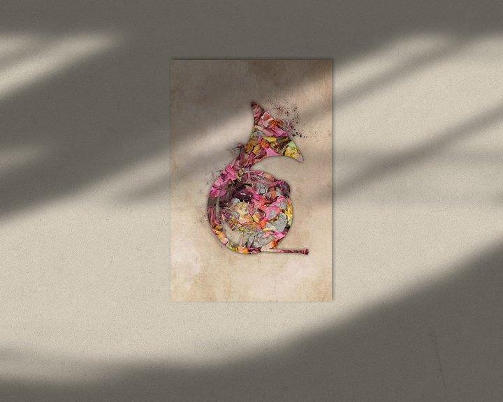 Sfeerimpressie: franse hoorn 3 muziekkunst #frenchhorn #muziek van JBJart Justyna Jaszke