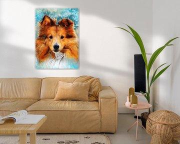 Hund 5 Tiere Kunst #Hund #Hunde von JBJart Justyna Jaszke