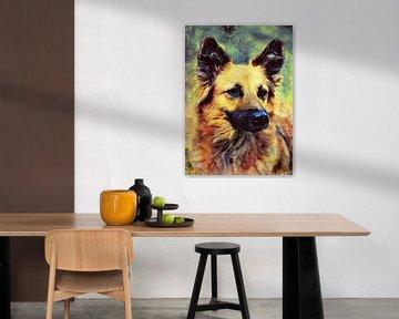 Hund 6 Tiere Kunst #Hund #Hunde von JBJart Justyna Jaszke