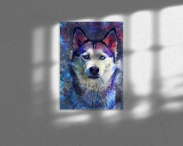 Hund 7 Husky Tiere Kunst #Hund #Hunde von JBJart Justyna Jaszke