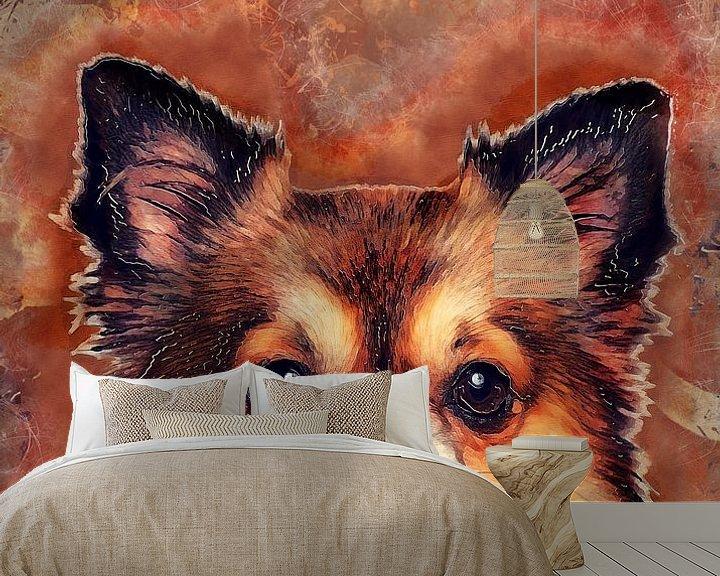 Beispiel fototapete: Hund 11 Tiere Kunst #Hund #Hunde von JBJart Justyna Jaszke