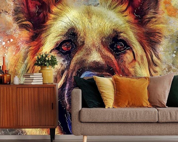 Beispiel fototapete: Hund 12 Tiere Kunst #Hund #Hunde von JBJart Justyna Jaszke