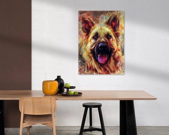 Beispiel: Hund 12 Tiere Kunst #Hund #Hunde von JBJart Justyna Jaszke