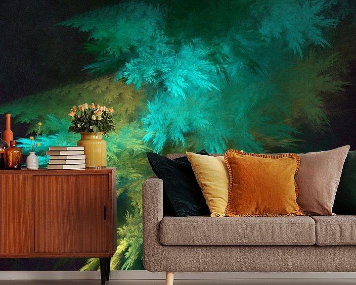 Beispiel fototapete: Fraktale abstrakte Kunst Wald 1 #Fraktale #Abstrakt von JBJart Justyna Jaszke