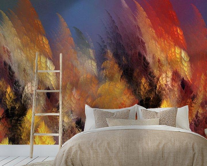 Beispiel fototapete: Fraktale abstrakte Kunst Wald #Fraktale #Abstrakt von JBJart Justyna Jaszke