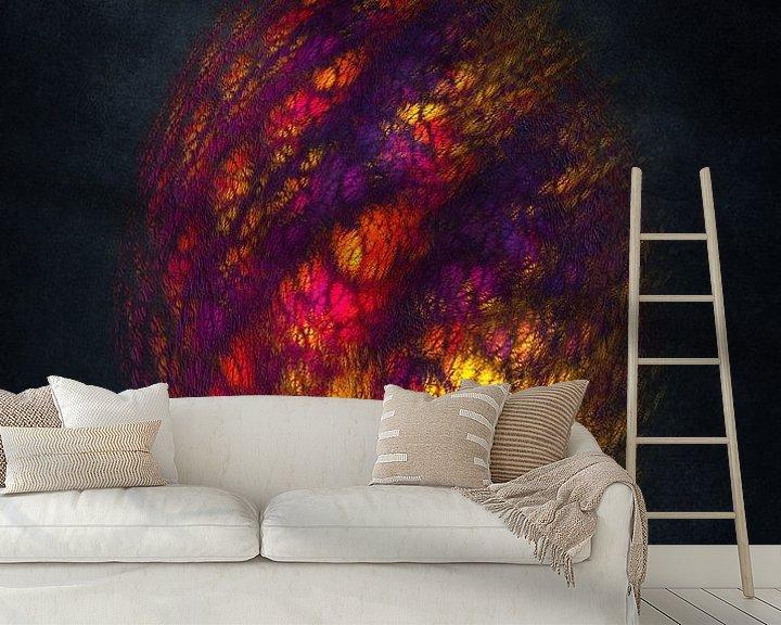 Beispiel fototapete: Fraktale abstrakte Kunst Drachenei #Fraktale #Abstrakt von JBJart Justyna Jaszke