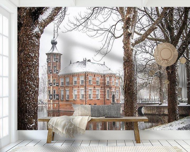 Sfeerimpressie behang: Winter in Breda, Kasteel Bouvigne van I Love Breda